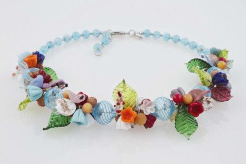Blown glass necklaces