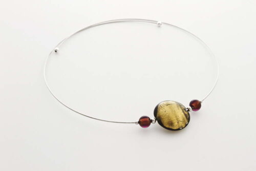 Murano glass with gold leaf necklaces