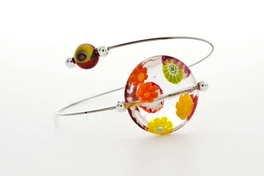 Murrina bracelet, crystal