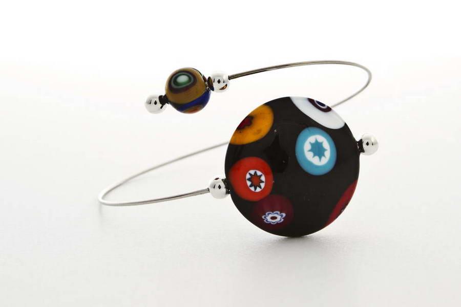 Murrina bracelet, black