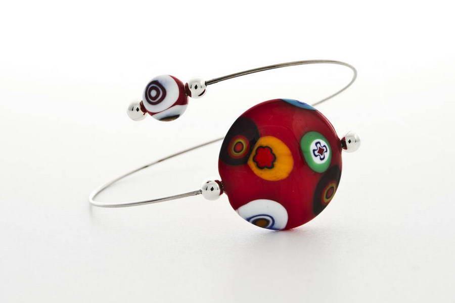 Murrina bracelet, red
