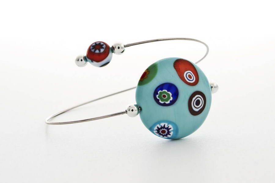 Murrina bracelet, light turquoise