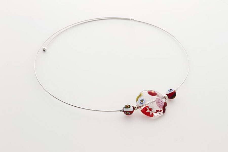 Murrina necklace, crystal