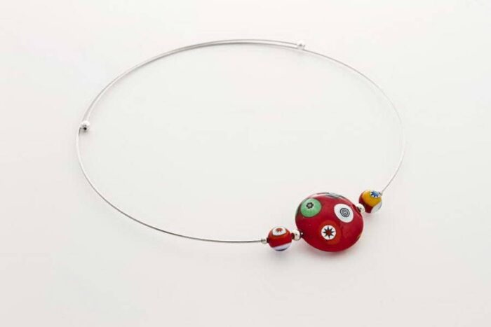 Murrina necklace, red