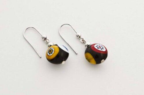 Murrina earrings, black