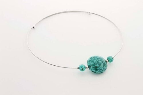 Aventurine necklace, sea green